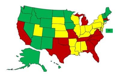 State Regulatory Map_Nurses