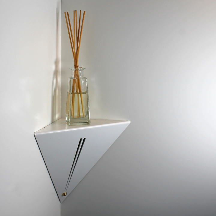 etagere d angle murale blanche altair