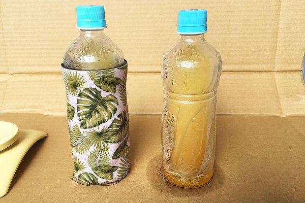 冷凍ペットボトルの保冷と結露対策実験