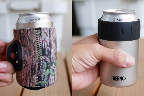 サーモス 保冷缶ホルダーに取手機能を追加