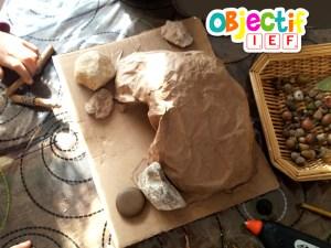 grotte en papier activité enfant L'art est un jeu d'enfant