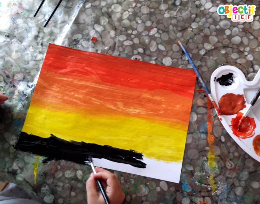 Safari en peinture activité enfant thème safari afrique