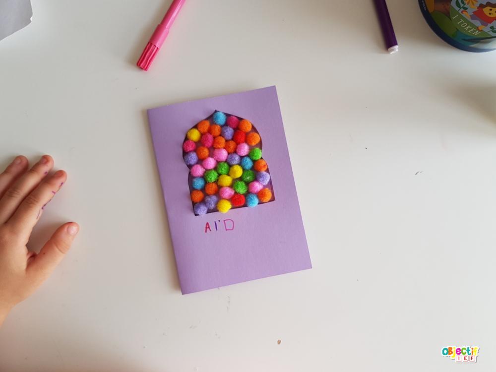 cartes de l'Aïd : 5 idées créatives, amusantes etludiques, activités enfant islam fête aid ramadan objectif IEF islam