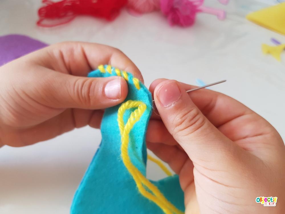 couture enfant activité manuelle sewing kids peluche feutrine objectif ief instruction en famille