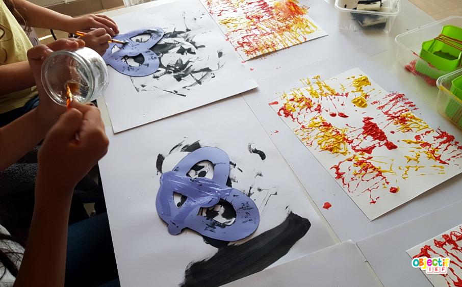 bretzel art visuel allemagne peinture relief instruction en famille tour du monde objectif ief