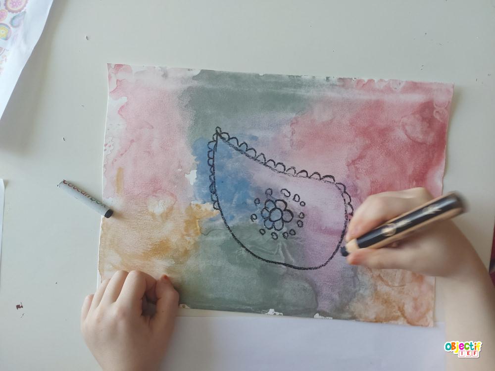 art visuel inde paisley viual art kids preschool ief instruction en famille tour du monde école à la maison activité enfant