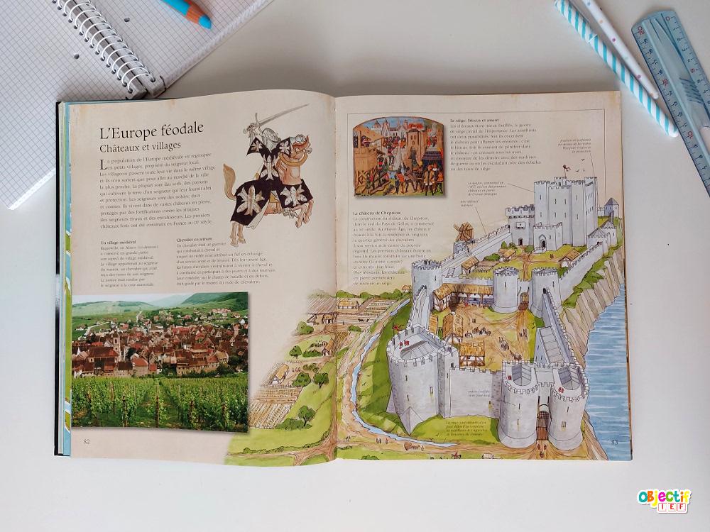 La grande encyclopédie de l'Histoire nathan rouge et or livre lecture histoire ddm découverte du monde ief Instruction en famille