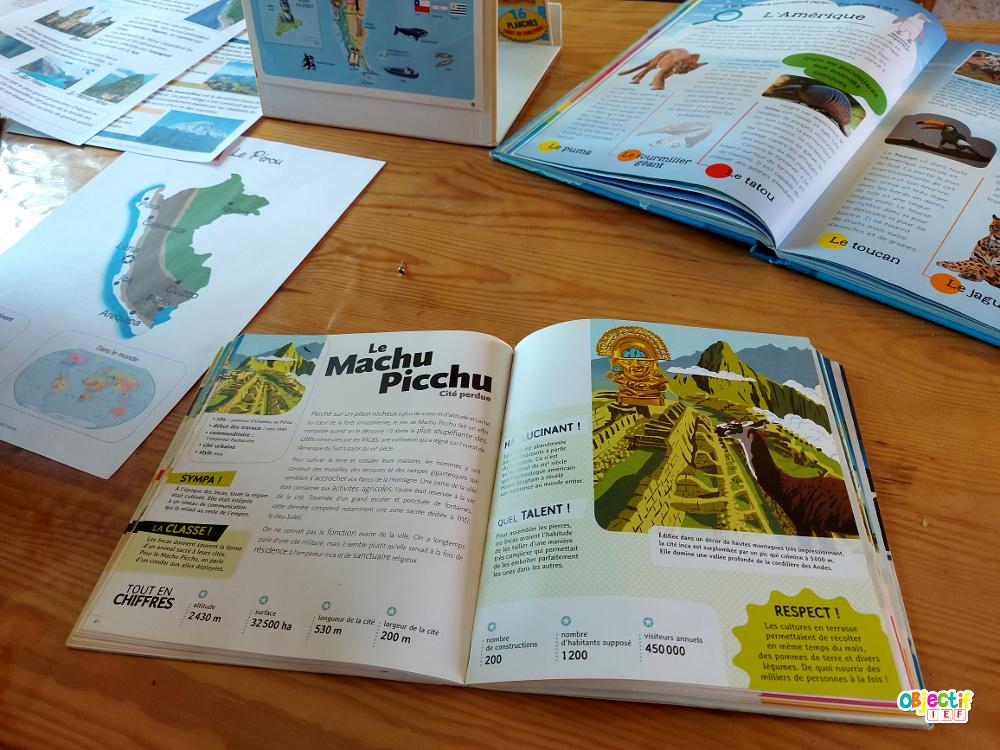 Pérou tour du monde ief recette péruvienne objectif ief instruction en famille bricolage pérou DIY peru