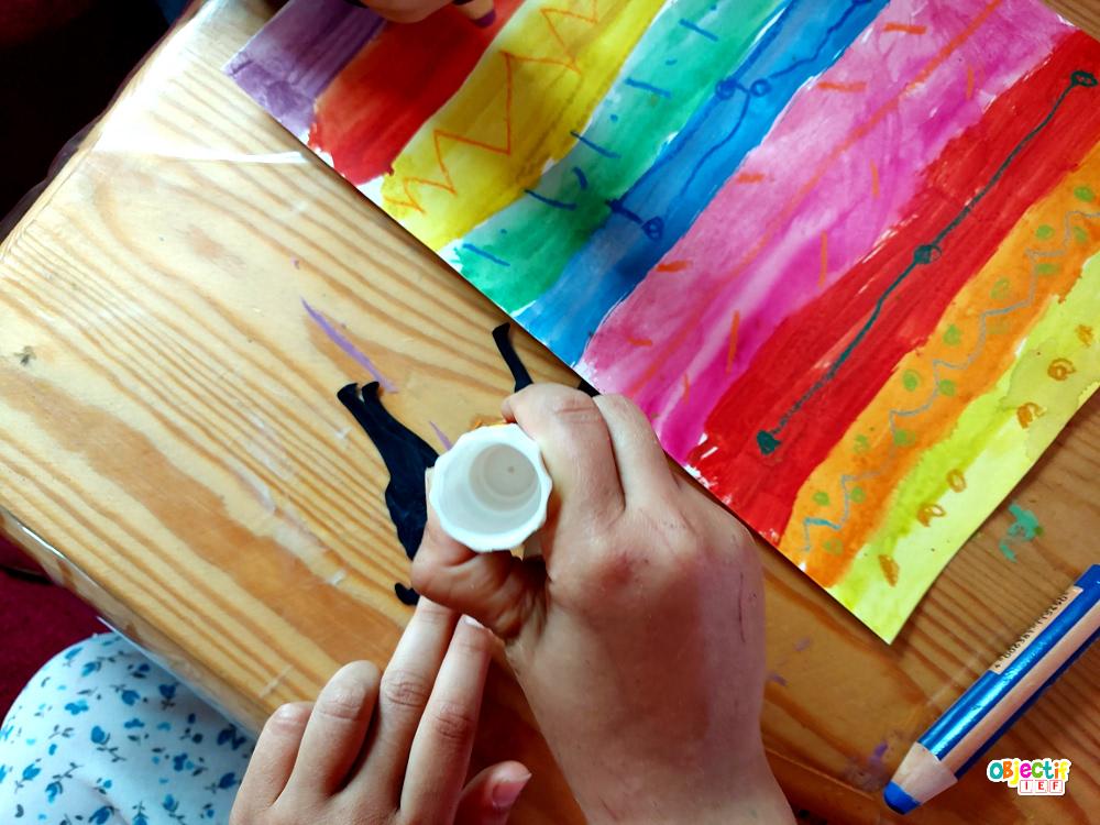 art visuel pérou lama colorées péruvien peru kids activities ief école à la maison instruction en famille tour du monde ief objectif ief