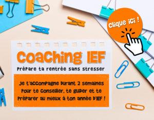 coaching ief préparation rentrée ief instruction en famille école à la maison conseils ief