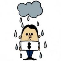 Rainy Businessman
