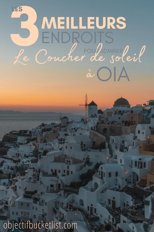 Meilleurs couchers de soleil a Oia Santorin