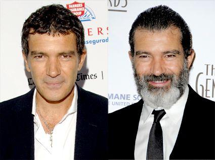 Antonio Banderas avec et sans barbe