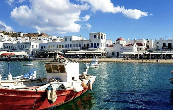 Visiter le port de Mykonos Grece