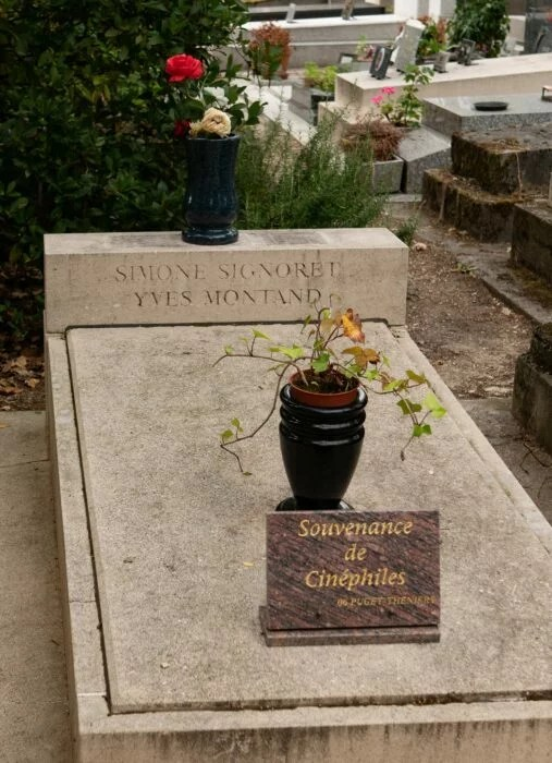 Tombe Yves Montand Simone Signoret Pere Lachaise