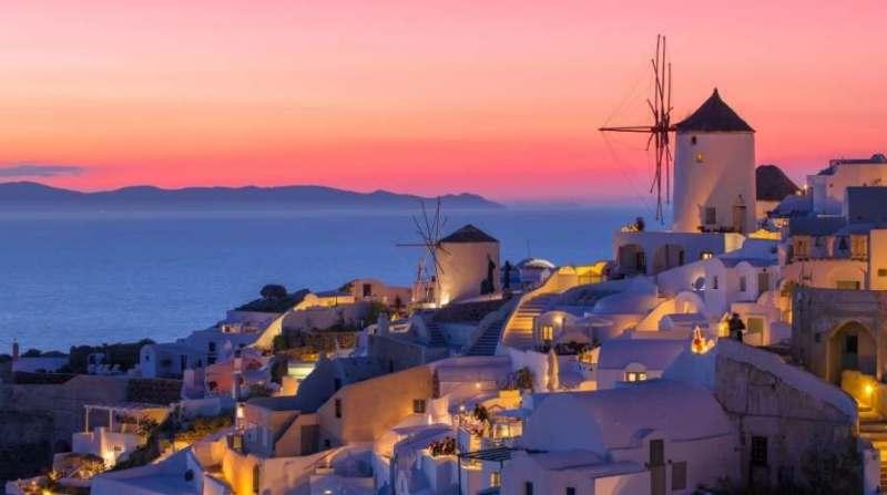 Choses a faire avant de mourir - Coucher de soleil Santorin