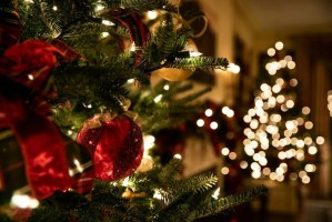 Bucket de Noël - Sapin de Noel illumine