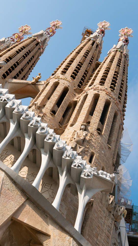 Sagrada Familia Barcelone ext back