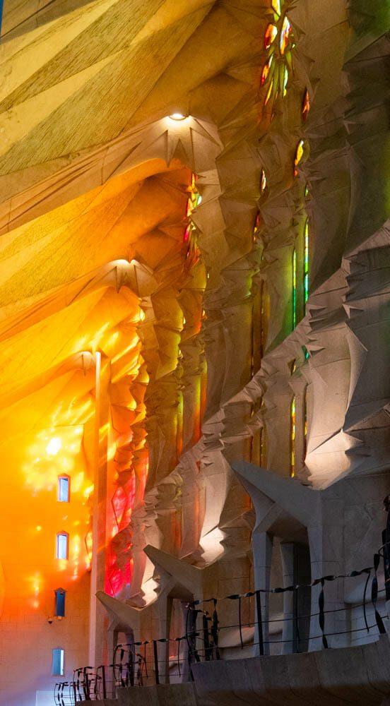 Sagrada Familia lumiere du soir