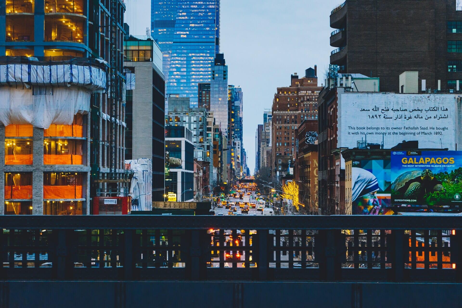 Vue depuis la High Line New York