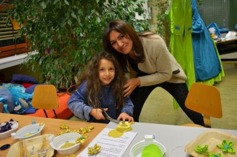 La petite soeur de Matteo, soutenue par leur maman a aussi bien participé !