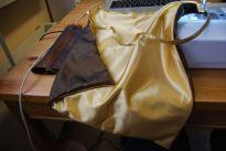 Pour le sac de Dani, je voulais un Galon, je l'ai donc coucu tout autour du carré