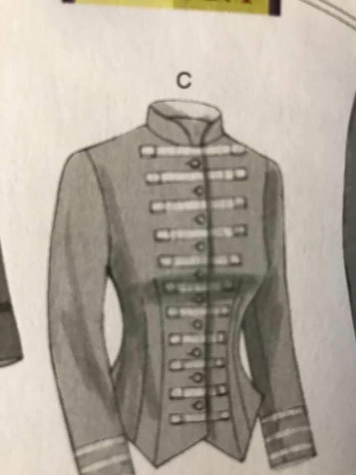 Le patron de la veste d'uniforme cintrée
