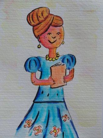 dessin maîtresse aquarelle
