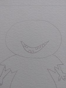 dessiner la bouche et les dents