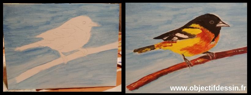 oiseau2Acrylique
