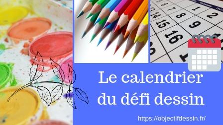 calendrier défi dessin