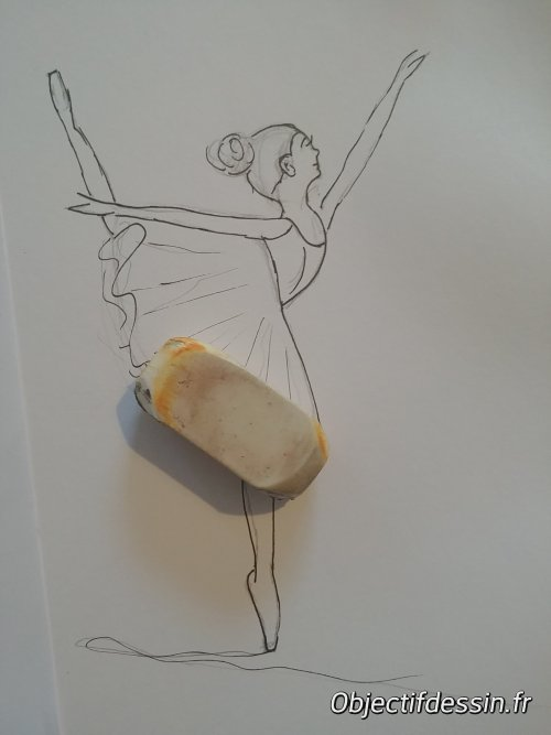dessin facile danseuse