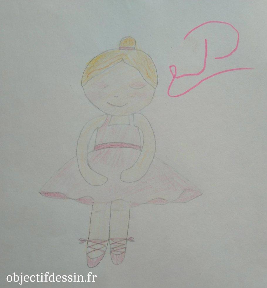 P dessin danseuse