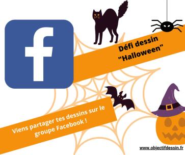 dessin Halloween à imprimer Groupe Facebook
