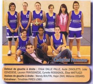 2010-2011 Cadettes Honneur
