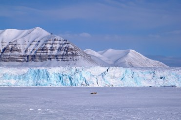 svalbard hiver glacier