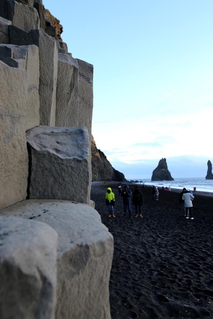 Islande place sable noir