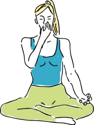la respiration alternée Nadi Shuddhi la respiration exercice de respiration exercice de sophrologie