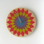 bold flower1clock