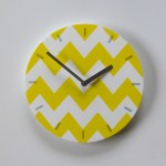chevron - white-yellow