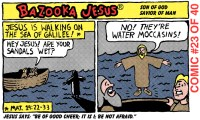Bazooka Jesus gum wrapper