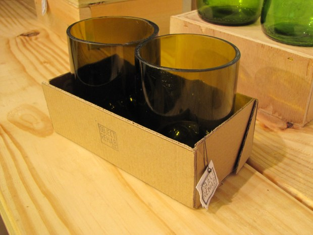 Wine bottles turned glasses