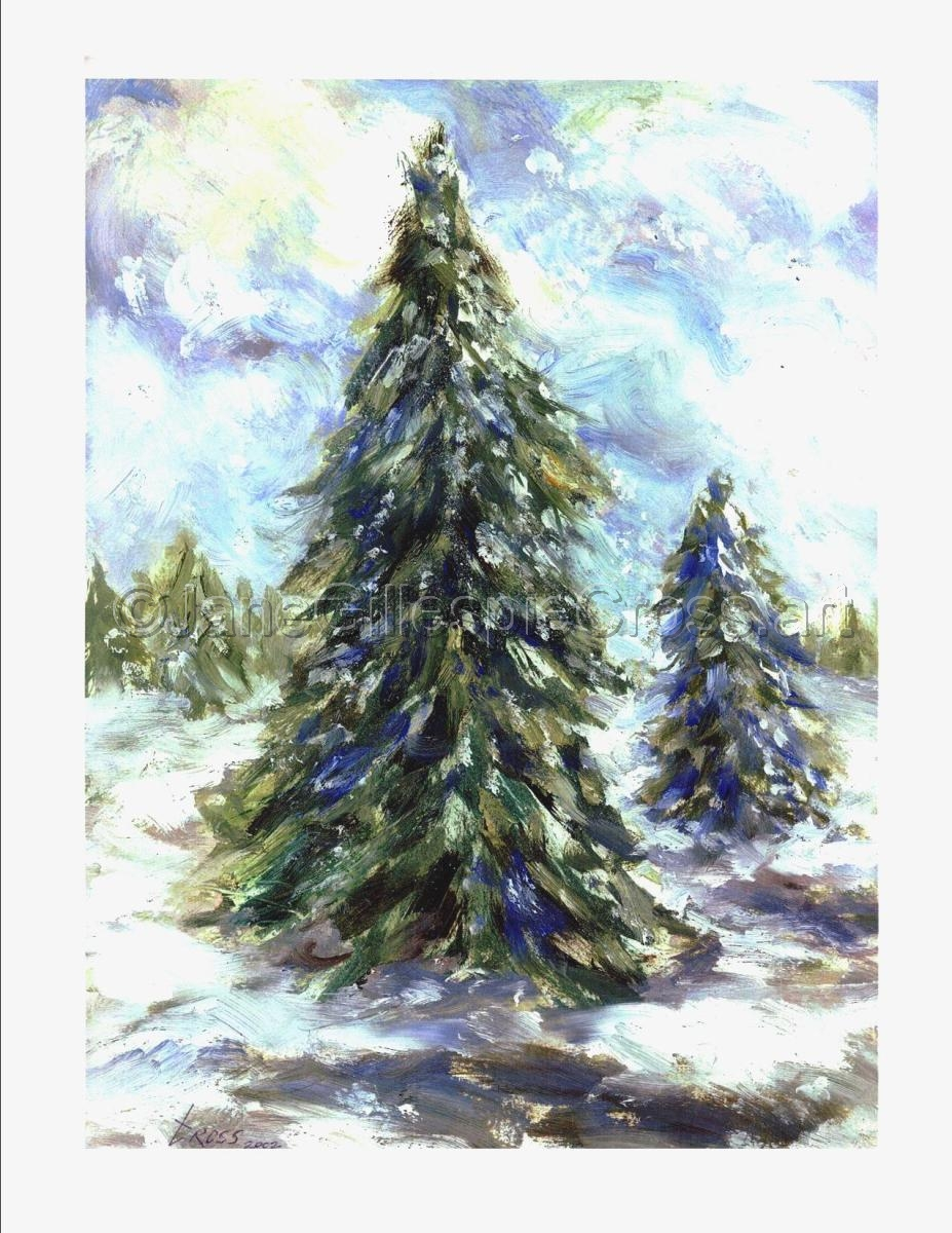 Image Result For Acrylic Painting Evergreen Trees
