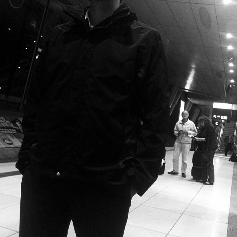 Mit dem Kollegen W. am  #Flughafen #Frankfurt (Instagram)