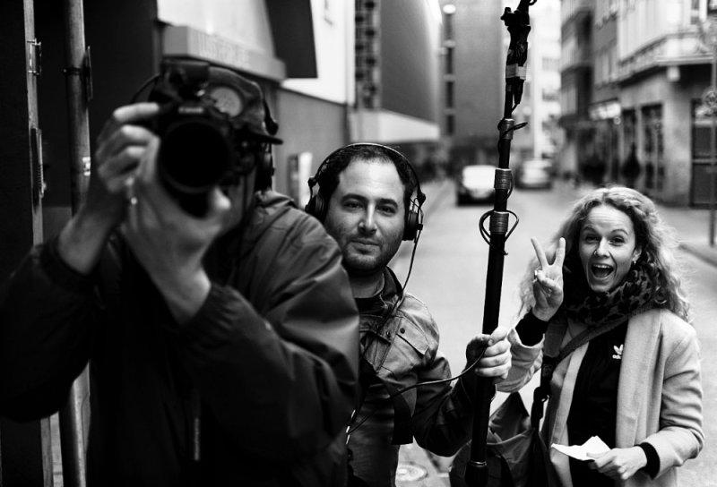 Mit dem WDR Kamerateam in der Innenstadt Aachen