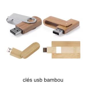 clés usb en bambou