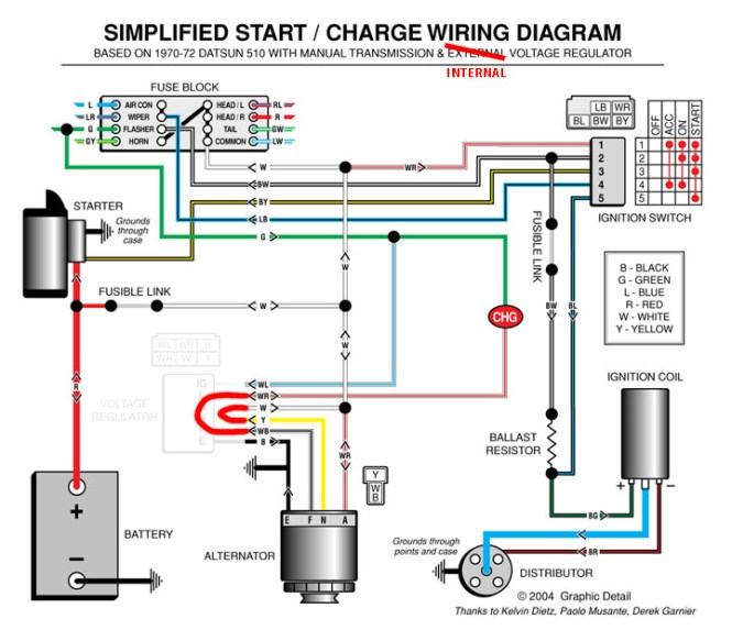 12v alternator wiring diagram wiring diagram vole regulator int how it works ih8mud forum 4 wire gm alternator wiring diagram