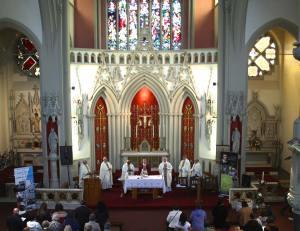 Mass at the English Martyrs Parish.
