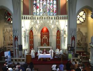Mass at the English Martyrs Parish.