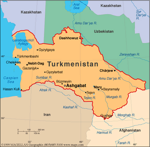 TurkmenistanMap Missionary Oblates of Mary Immaculate